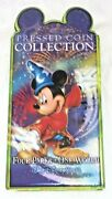 Retired Disney World Mickey Pressed Penny / Quarter Collection Coin Book Holder