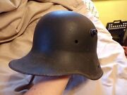 M16 Authentic German Helmet Battlefield Relic From France Bullet Hole Good Cond