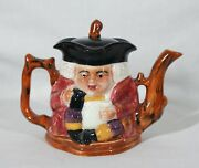 Vintage Shorter And Son Genuine Staffordshire Hand Painted Toby Teapot England New