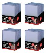 100 Ultra Pro 75pt 3x4 Toploaders Thicker Top Loader Thicker Card Free Shipping