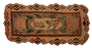 Antique American Hooked Rug 5'9 X 2'8
