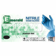 Emerald Blue Nitrile Exam Gloves 3.5 Mil Powder/latex-free All Quantity And Sizes