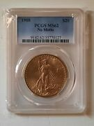 1908 No Motto 20 Saint Gaudens Double Eagle Pcgs Ms 62 Lovely Gold Luster