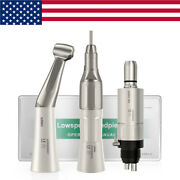 Nsk Style Dental Low Speed Handpiece Kit Straight Contra Angle Air Motor 4holes