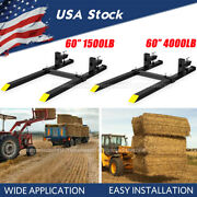 1500lb/4000lbs Pallet Forks Clamp On 60 For Loader Tractor Bucket Forks Attach