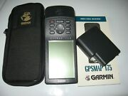 Garmin Gpsmap 175 Marine Gps Maps W/ Carrying Case Battery Pack Book Parts Only
