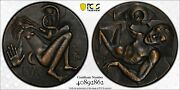 M001 Rare 1987 Finland Adam And Eve And The Fall Of Man Bronze Medal. Pcgs Sp65