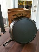 Griswold 12 Cast Iron Skillet With Small Block Logo And Heat Ring Restored