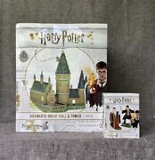 Dept 56 Lot Of 2 Hogwarts Great Hall And Tower + Harry And The Headmaster Set/2 New