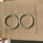 Authentic Pair Of Size 5 David Yurman Cable Classics Rings