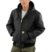 Mens J140 Duck Quilted Flannel Lined Active Jacket Coat 2xl Tall Black
