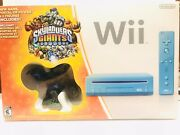 Nintendo Wii Limited Edition Blue Console System Skylanders Giants