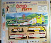 Corkey's Flyer - Carnival Ho Electric Train Set. Locomotive, 2 Cars And Caboose