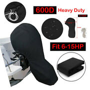 600d Black Boat Motor Full Ouoard Engine Cover Fits Up To 150hp Waterproof