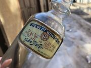 Vintage Minty 1920 Lug Jay-gee The Best What Gives Soda Fountain Syrup Bottle