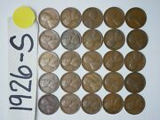 1926-s Cent Half Roll Solid Date =25 Lincoln Wheat Pennies 8 Items Ship Free