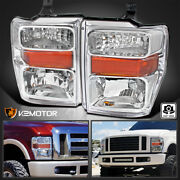 For 2008-2010 F250 F350 F450 F550 Superduty Headlights Lamps Left+right 08-10