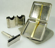 1925 Ever-ready Safety Razor Set In Cigarette Case Wall-holder Tweed Pouch