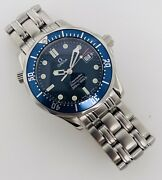 Omega Seamaster Mid-size 36mm Quartz Electric Blue Dial Stainless Steel 2561.80