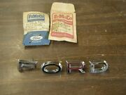 Nos Oem Ford 1962 1963 Falcon Hood Letters Set + 1963 Fairlane + Galaxie 500