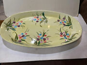 """Ethan Allen Made In Italy Large Platter 20"""" X 12"""""""