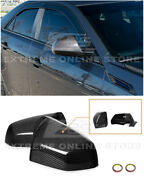 For 09-14 Cadillac Cts Cts-v | Gm Style Carbon Fiber Mirror Covers Replacement