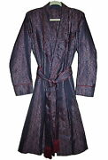 Sulka Vintage Menand039s Silk Robe Dressing Gown Size S-m