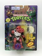Tmnt Warrior Rocksteady 1995 New Sealed Yellow Weapons Variation Robotic