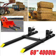 Heavy Duty Steel Attachments 4000 Lbs 60 Clamp-on Pallet Forks Loader Bucket
