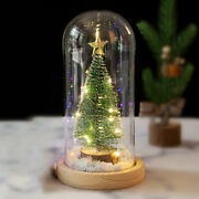 Forever Christmas Tree In A Glass Dome With Led Lights Xmas Decorations Gift+box