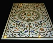 Marble Coffee Table Top Peitra Dura Art Center Table For Home Decor 30 X 60 Inch