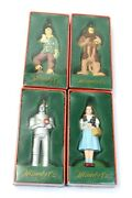 1999 Wizard Of Oz Lot Of 4 Kurt S. Adler Christmas Ornaments With Boxes