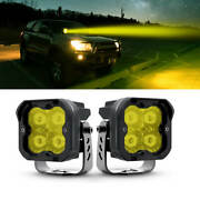 2x Lasfit 3 36w Led Work Light Driving Off Road Pods Lights For Jeep Pickup Ram