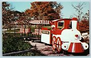 Postcard Il Chicago Loco Promotions Limited Trackless Train Pioneer Park T14