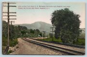 Postcard Ny Ramapo Erie Railroad Tracks Near Suffern And High Torne 1908 View V15