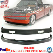 Front Bumper Primed And Lower Valance For 1988-2000 Chevrolet And Gmc K1500 C1500