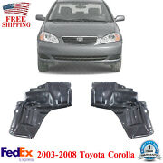 Engine Splash Shield Under Cover Left And Right Side For 2003-08 Toyota Corolla