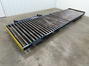 48bf X 15and039 Heavy Duty Steel 2.5 Roller Gravity Pallet Case Conveyor 2 Sections