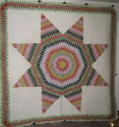 Antique Quilt Rolling Star Ex Leduc Mansion Hastings Mn Museum Quality 19th C.
