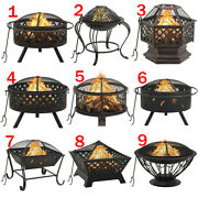 Fire Pit Heater Backyard Wood Burning Patio Deck Stove Fireplace Bowl Outdoor
