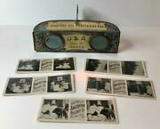 American Biscuit Co. Miniature Advertising Stereoviewer W/ 5 Cards Ca. 1890-1910