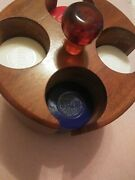 Vintage Hoyle Poker Chips Carousel With Amber Handle
