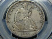 1844-o 50c Seated Liberty Half Dollar Double Date Vf-20 Pcgs Tough Coin