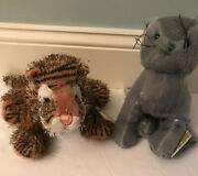 Webkinz Charcoal Cat And Tiger With Sealed Codes By Ganz