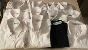 Preowned Lot Of Cintas Work Uniform Shirts Pants White Various Sizes 12 Pieces