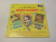 Walt Disneyand039s Songs And Stories Of Uncle Remus Brer Rabbit - 1970 Lp Record 3907