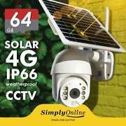 4g Solar Powered 100 Cable Free Ptz Security Camera 64 Gb Sd