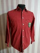Levi`s Red Tab Jeans Shirt With Usa Patches Size S