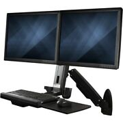 Startech Wall Mount Workstation, Full Motion Standing Desk With Ergonomic Height