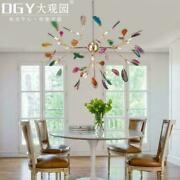 Colorful Agate Led Ceiling Fixture Metal Pendant Lighting Firefly Ceiling Lamp
